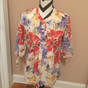 Tommy Bahama Blouse floral button down